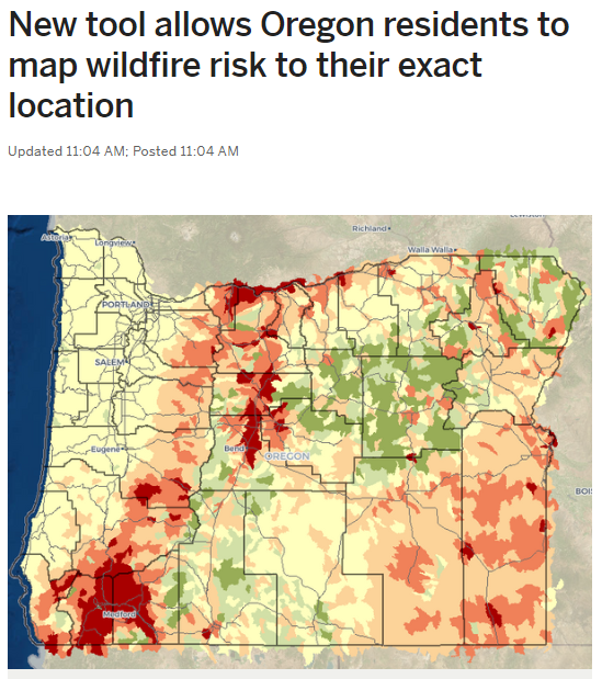 Wildfire Risk Explorer in the Oregonian.