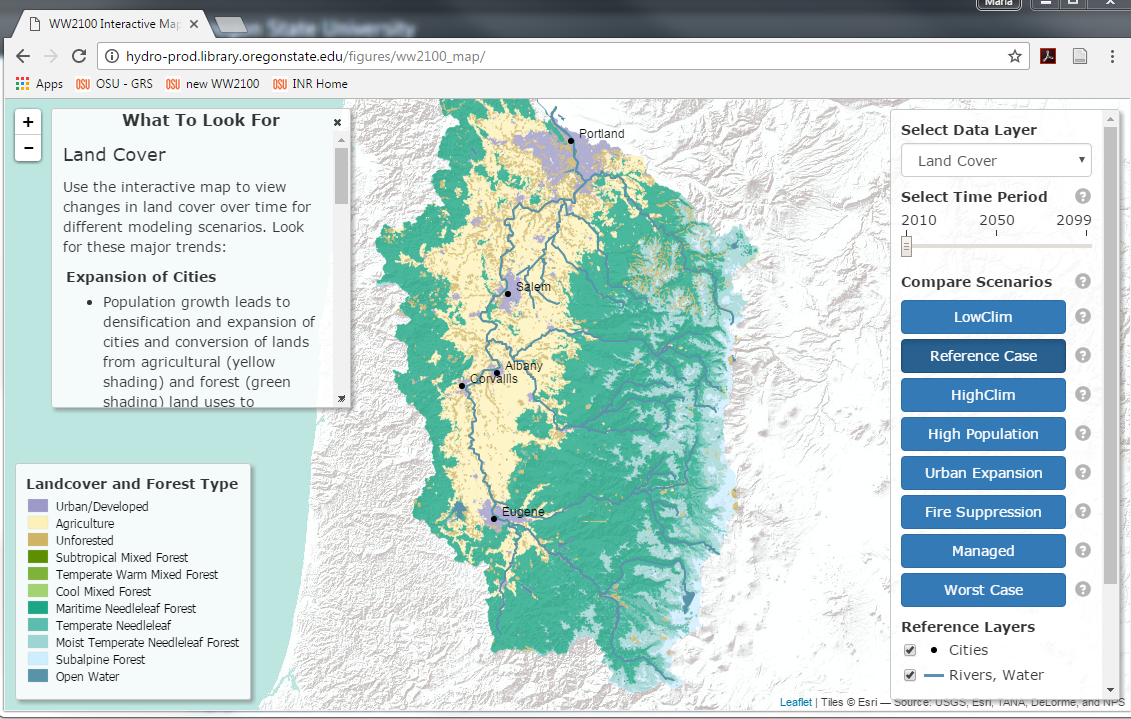 Interactive Map Institute For Natural Resources Oregon State - Oregon state map with cities