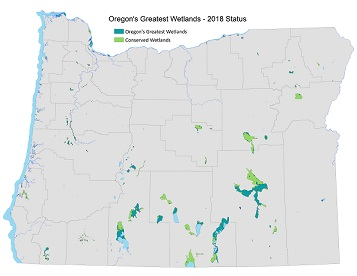 Oregon's Greatest Wetlands Map