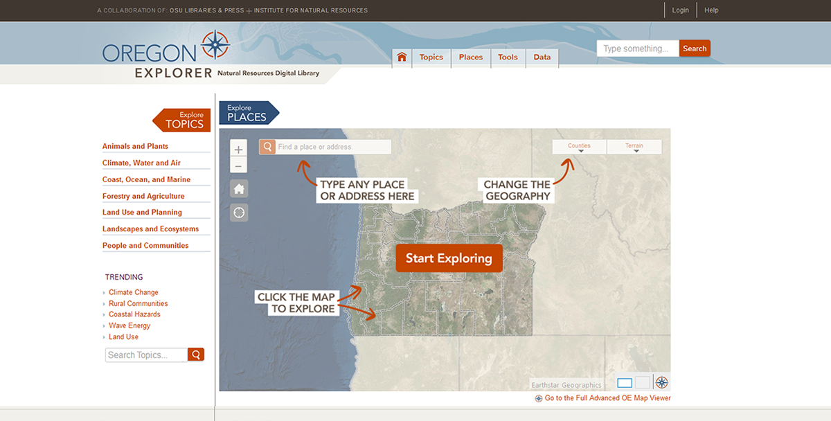 clip from Oregon Explorer website