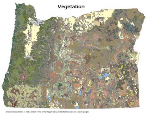 Oregon Historical Vegetation Map