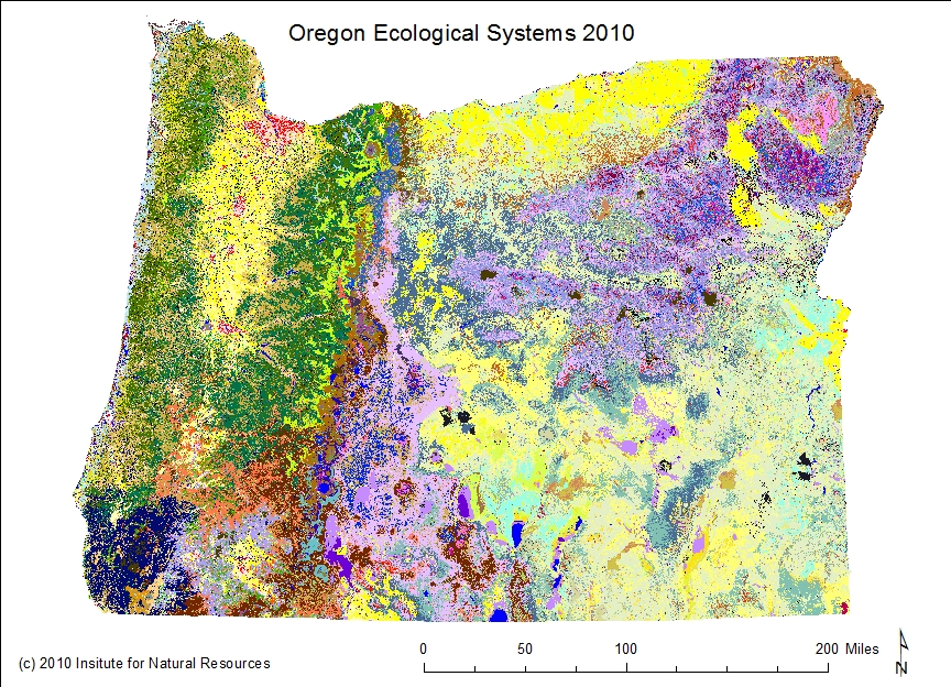 Maps Institute For Natural Resources Oregon State University - State map of oregon