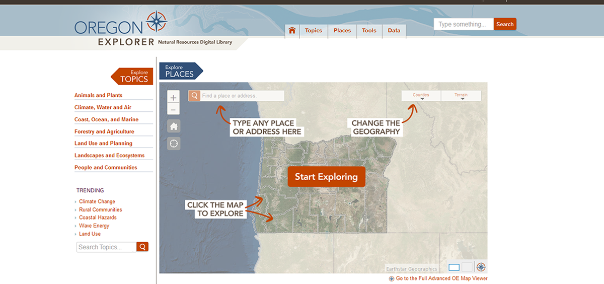 clip from Oregon Explorer website