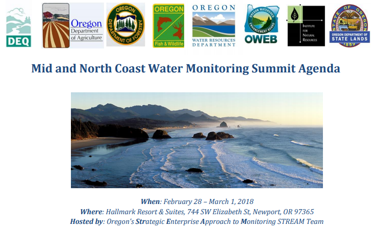 Mid and North Coast Water Monitoring Summit Graphic