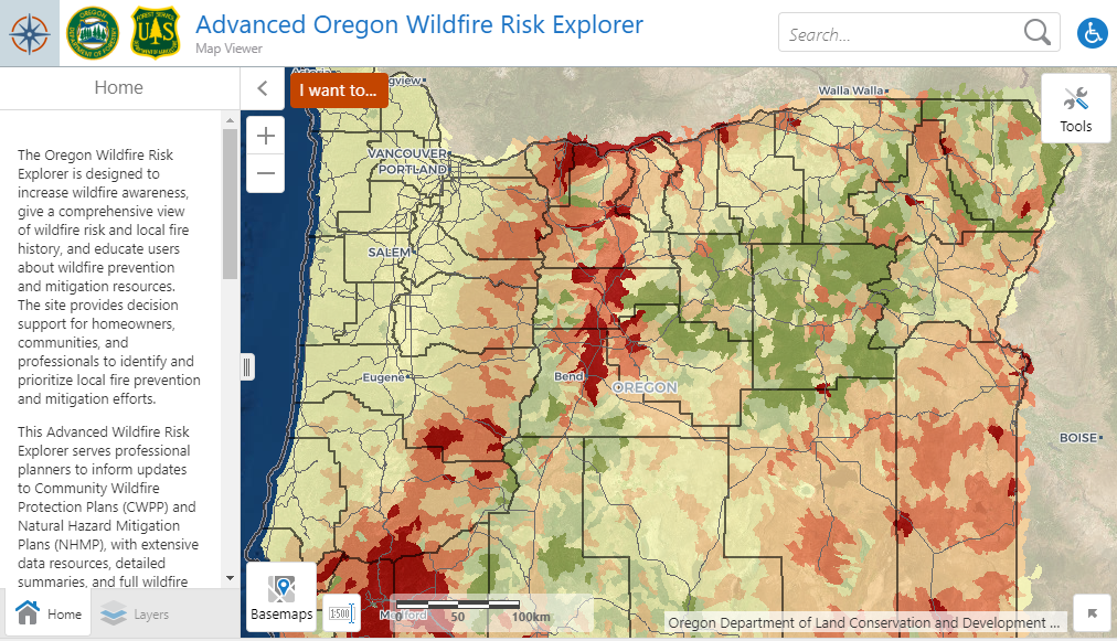 Wildfire Risk Explorer